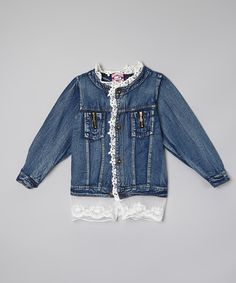 Look at this Denim Lace Jacket - Toddler & Girls on #zulily today!