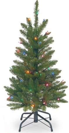 Fir Wrapped Pencil Artificial Christmas Tree with 50 Multi Lights Home Decor #ChristmasTree #Artificial #FirWrapped #FirPencil #PreLit #MultiColor #Decor #Christmas #ChristmasDecor #Holiday #Seasonal #HomeDecor #HolidayDecor