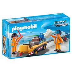PLAYMOBIL City Action luchtverkeersleiders met bagagetransport 5396