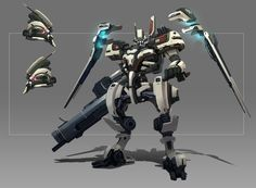 Did some mecha studies in my free time. Working in a Japanese company sort of influenced the design direction for this.