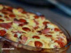 Recette Dessert : Clafouti de tomates cerises au jambon de bayonne par Lennoncurd