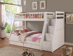 Twin/full Storage Step Bunk Bed, 2 Drawers, (White) Bella Esprit,http://www.amazon.com/dp/B00JQJV1FY/ref=cm_sw_r_pi_dp_m6eGtb0AJKHEZWEW