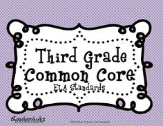 3-6 Free Resources: Third Grade Common Core