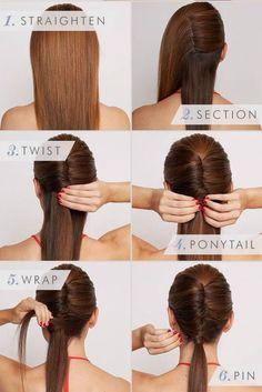 Sleek vixen hairstyle step by step