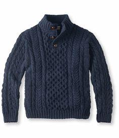 L.L.Bean Irish Fisherman Sweater $159. Made in Ireland. Free Shipping at L.L.Bean