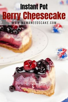 Instant Pot Mixed Berry Cheesecake - Mama Needs Cake Instantpot instantpotdesserts instantpotcheesecake berry berrycake raspberries raspberrycheesecake blueberries blueberrycheesecake pressurecooker cheesecakerecipes cheesecake desserts 621144973587449061 Raspberry Cheesecake, Cheesecake Recipes, Pie Recipes, Easy Recipes, Instant Pot, Easy Desserts, Dessert Recipes, Raspberries, Blueberries