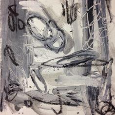 Black & White Abstract - charcoal, watercolor pencil and acrylic - Amanda Leffel - AL Flair