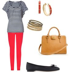 How to Wear Red Jeans via musingsofahousewife.com