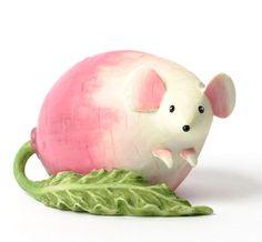 Enesco+Vegetable+Animals   Home Grown Veggie Animal Figurine - Rutabaga Mouse