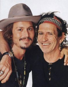 Johnny Depp & Kieth Richards from the Rolling Stones.