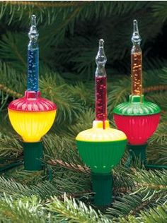 Bubble Lights...takes me back to my childhood Christmas trees in the 1950's.