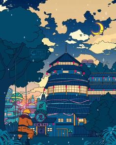 #illustration #digitalart #illustrator #digitaldrawing #digitalpainting #art #digitaldoodles Naruto Wallpaper Iphone, Wallpapers Naruto, Anime Scenery Wallpaper, Kawaii Wallpaper, Animes Wallpapers, Cute Wallpapers, Wallpaper Doodle, Naruto Uzumaki, Boruto