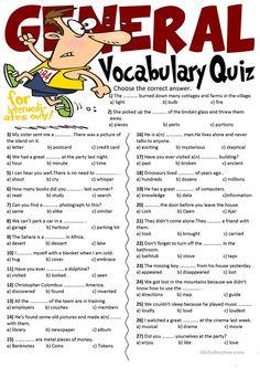 General Vocabulary Quiz