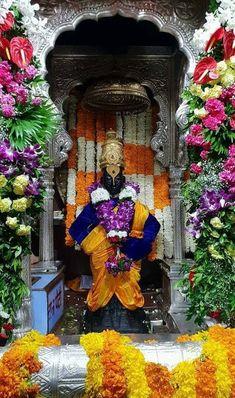 Swami Samarth, Lord Vishnu Wallpapers, Krishna Radha, Diwali Decorations, God Pictures, Blessed Mother, Wall Wallpaper, Floral Wreath, Marvel