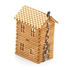 2 Story Log Cabin Kit | Stewart Dollhouse Creations