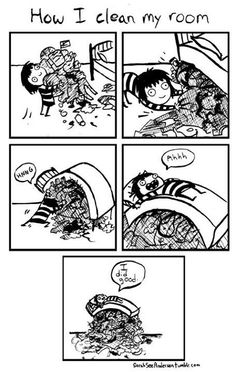 How I Clean My Room. (Sarah andersen doodle time)