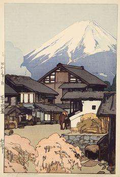 Hiroshi Yoshida, Japan (every time I see inspiring Japanese prints, I think of Frank Lloyd Wright.....the architecture nerd in me)