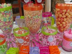 Candy Buffets are perfect for wedding! I heart it!