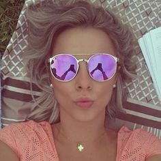 purple and pink tinted glasses