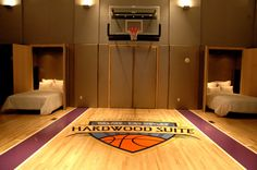 Boys basketball room decor bedroom kids appealing furniture also hoop home improvement license decorating ideas for Awesome Bedrooms, Cool Rooms, Shared Bedrooms, Bedroom Themes, Room Decor Bedroom, Bedroom Ideas, Bedroom Furniture, Boys Basketball Room, Basketball Court