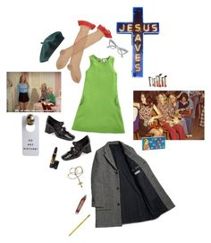 """""""catholic school dropout"""" by psychedlia ❤ liked on Polyvore featuring Lisa Perry, Trasparenze, Aloha Rag, Forever 21, Dixon Ticonderoga, Jeffrey Campbell and Revlon"""