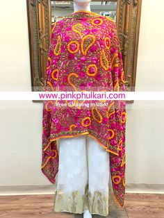To shop please visit our website 📲www.pinkphulkari.com    💖💖💖we ship worldwide Ethnic, Kimono Top, Sari, Suits, Website, Shopping, Tops, Women, Fashion
