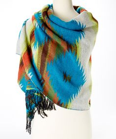 Take a look at the Orange & Turquoise Tribal Wrap on #zulily today!