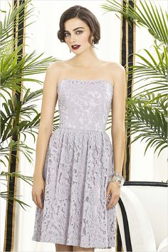 Dessy Bridesmaid Lace Gown