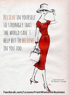 This, always this. I always think highly of myself... I believe I can do anything imaginable! #myhusbandismygreatestsupporter #teamwehner