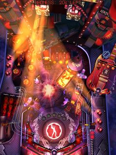 AC/DC Pinball Rocks for iPad: Multiball madness gives way to the fiery furnace below!    #acdc #pinball #rocks #ipad