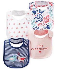 Carter's Baby Girls' 4-Pack Bibs - Kids - Macy's