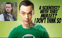 The Walking Dead, Big Bang Theory, Sheldon, Eugene