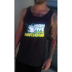 Singlet: High Five If You're Awesome (Masculine Fit)