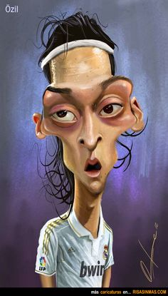 Caricatura de Mesut Özil.