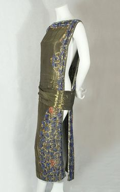 1920s clothing at Vintage Textile: #2203 Beaded lame dress