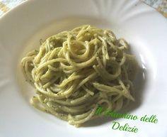Spaghetti con crema di noci