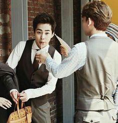 Xiumin and Chen Kim Minseok Exo, Exo Ot12, Exo Xiumin, Kaisoo, Chanbaek, Exo Fanart, Kim Jong Dae, Exo Couple, Xiuchen