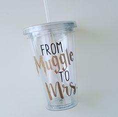 From Muggle to Mrs Tumbler-Bride Tumbler-Future Bride Cup-Bride Tumbler-Bride Tervis Tumbler-Gifts for Her-Engagement Gift-Harry Potter by ALittleLadyandMe
