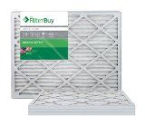 AFB Silver MERV 8 14x30x1 Pleated AC Furnace Air Filter. Pack of 4 Filters. 100% produced in the USA.
