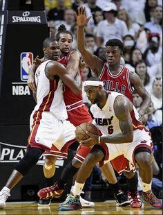 LeBron James - Miami Heat vs Chicago Bulls - Game 1 - May 6, 2013