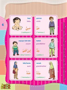 Baca Online Kamus Pintar Bergambar 3 Bahasa adalah buku kamus bergambar full warna dalam 3 bahasa: Indonesia, Inggris, dan Arab untuk anak. Arabic Language, English Language, Modern Standard Arabic, Indonesian Language, Arabic Lessons, Learning Arabic, School Quotes, Busy Book, Learning Colors
