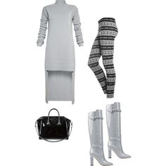 A fashion look from January 2015 featuring Rick Owens dresses, Valentino boots and Givenchy tote bags. Browse and shop related looks.