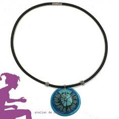 collier noir et bleu - loulou -