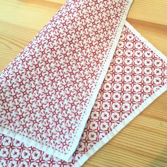 刺し子の布巾 十字花刺し 大画像1
