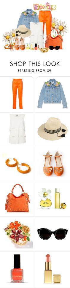 """""""Springtime in Color ... !!"""" by fashiongirl-26 ❤ liked on Polyvore featuring Maison Rabih Kayrouz, Gucci, Tahari by Arthur S. Levine, Big Buddha, Marc Jacobs, Sonia Rykiel and AERIN"""