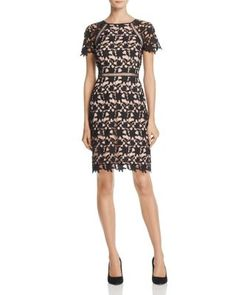 Adrianna Papell Lace Sheath Dress | Bloomingdale's