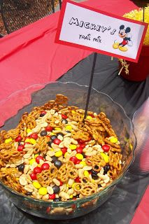 A Mickey Mouse Birthday Party ##This Mickey Mouse trail mix was such a hit!! @Carrie Mcknelly Mcknelly Mcknelly Mcknelly Wylam