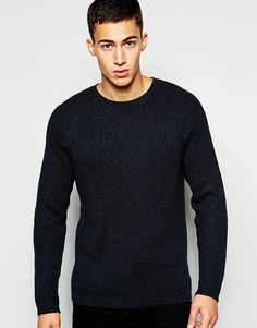 """Jumper by French Connection Knitted fabric Ribbed texture Raglan sleeve design Fitted cuffs and hem Regular fit - true to size Machine wash 100% Cotton Our model wears a size Medium and is 189cm/6'2.5"""" tall"""
