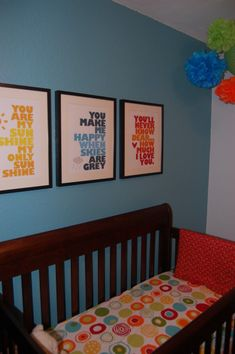 """#Customframed """"You are My Sunshine"""" lyrics is such a sweet touch for a #nursery."""
