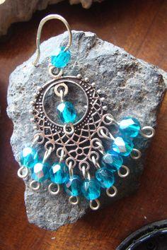 Σκουλαρικια boho με γαλαζιους κρυσταλλους 9€ Washer Necklace, Boho, Jewelry, Jewlery, Jewerly, Schmuck, Bohemian, Jewels, Jewelery